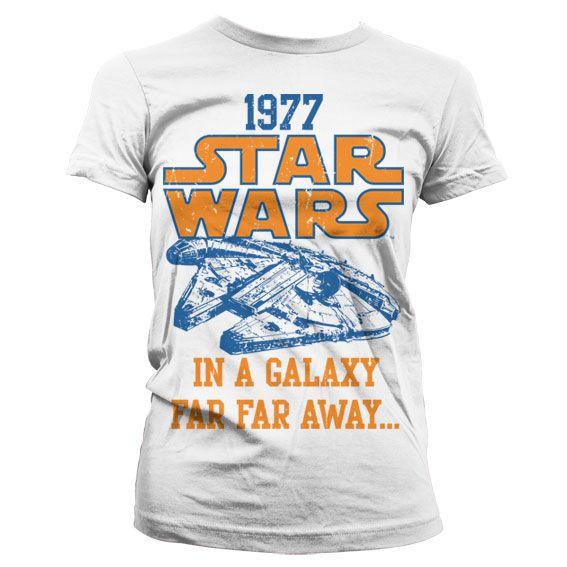 Star Wars módní dámské tričko s potiskem 1977