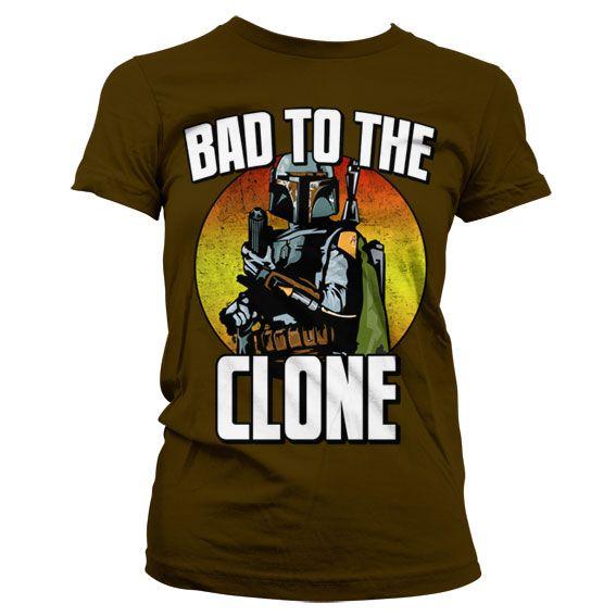 Star Wars módní dámské tričko s potiskem Bad To The Clone