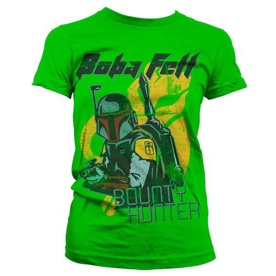 Star Wars módní dámské tričko s potiskem Boba Fett Bounty Hunter