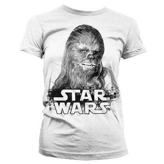 Star Wars módní dámské tričko s potiskem Chewbacca