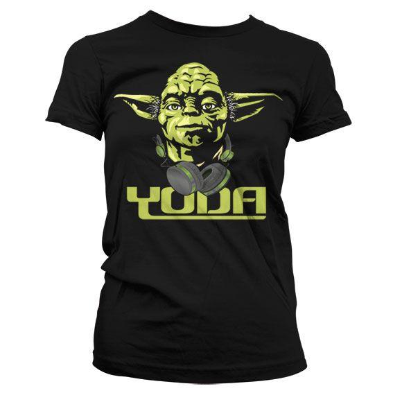 Star Wars módní dámské tričko s potiskem Cool Yoda