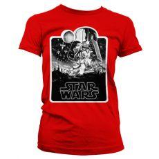 Dámské tričko Star Wars Deathstar Poster