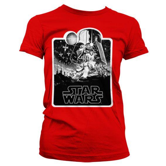 Star Wars módní dámské tričko s potiskem Deathstar Poster