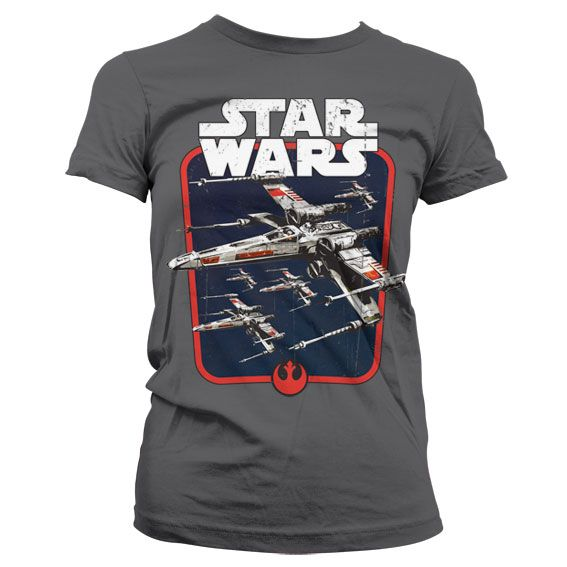 Star Wars módní dámské tričko s potiskem Red Squadron