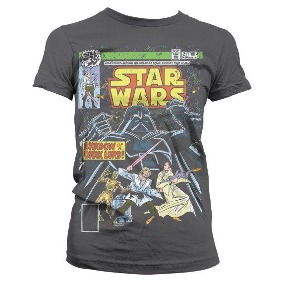 Star Wars módní dámské tričko s potiskem Shadow Of A Dark Lord