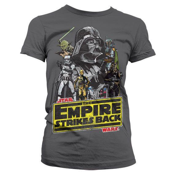 Star Wars módní dámské tričko s potiskem The Empires Strikes Back