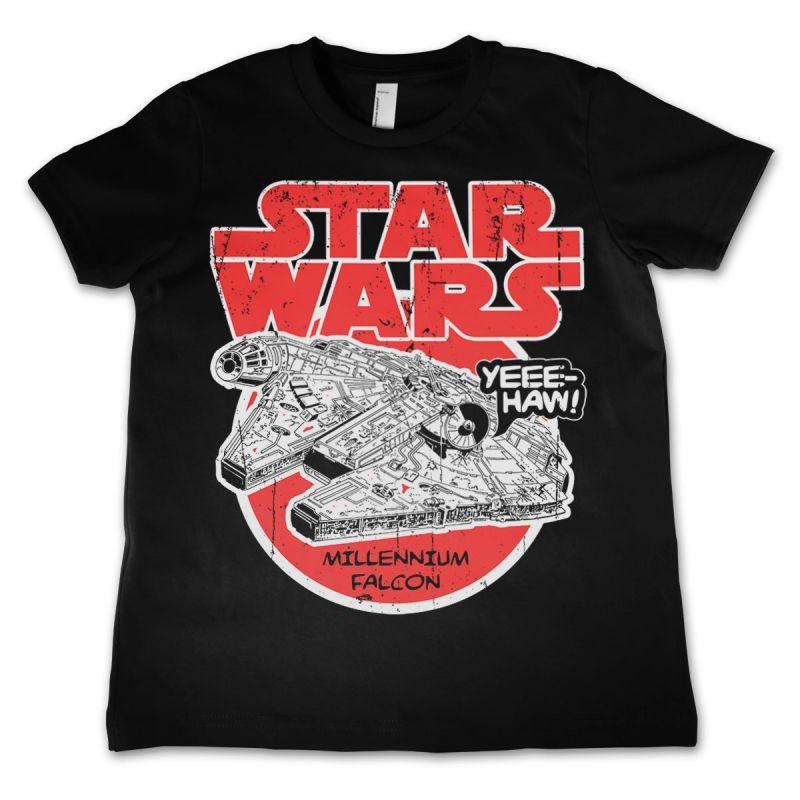 Star Wars módní dětské tričko s potiskem Millennium Falcon