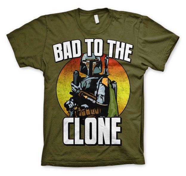 Star Wars módní pánské tričko s potiskem Bad To The Clone
