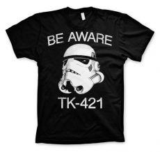 Pánské tričko Star Wars Be Aware TK-421
