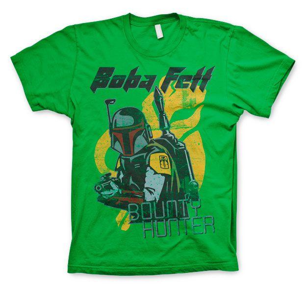 Star Wars módní pánské tričko s potiskem Boba Fett Bounty Hunter