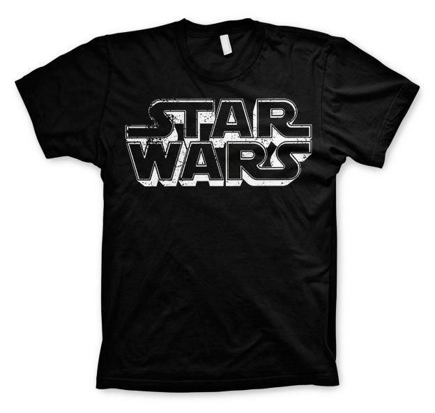 Star Wars módní pánské tričko s potiskem Distressed Logo