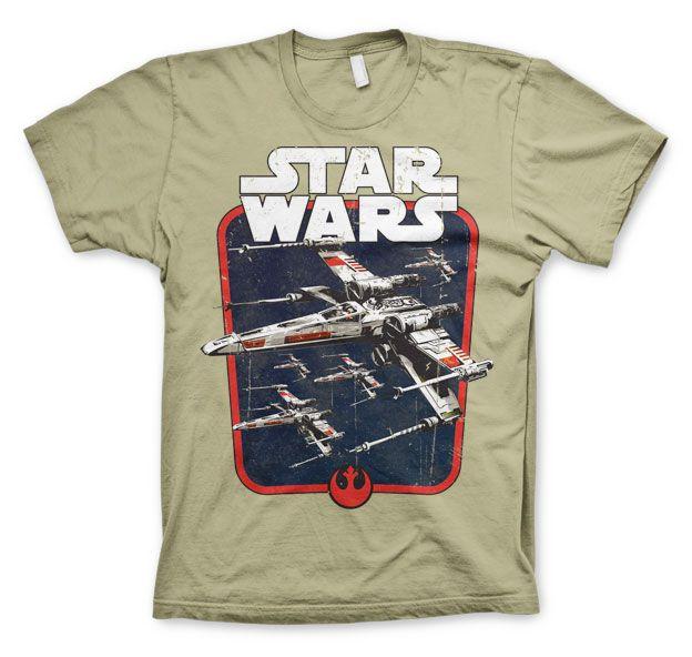 Star Wars módní pánské tričko s potiskem Red Squadron