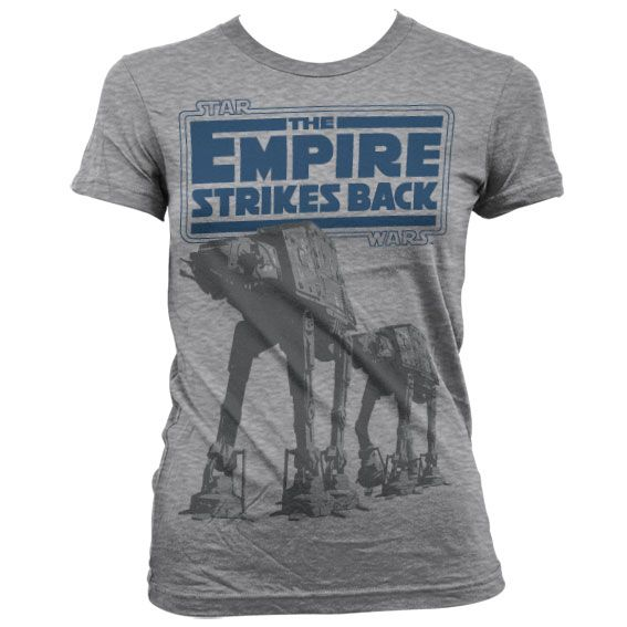 Star Wars stylové dámské tričko s potiskem Empire Strikes Back AT-AT