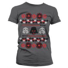 Dámské tričko s potiskem Star Wars Imperials X-Mas Knit