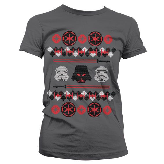 Star Wars stylové dámské tričko s potiskem Imperials X-Mas Knit