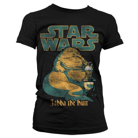 Star Wars stylové dámské tričko s potiskem Jabba The Hutt