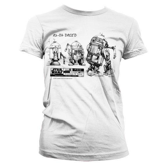 Star Wars stylové dámské tričko s potiskem R2-D2 Blueprint