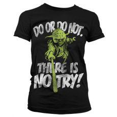 Dámské tričko s potiskem Star Wars There Is No Try Yoda