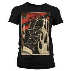 Dámské tričko s potiskem Star Wars Vader Flames
