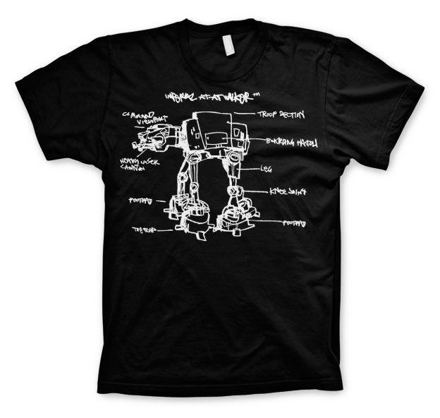 Star Wars stylové pánské tričko s potiskem AT-AT Sketch