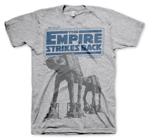 Star Wars stylové pánské tričko s potiskem Empire Strikes Back AT-AT