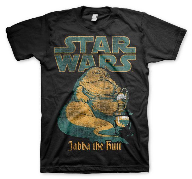 Star Wars stylové pánské tričko s potiskem Jabba The Hutt