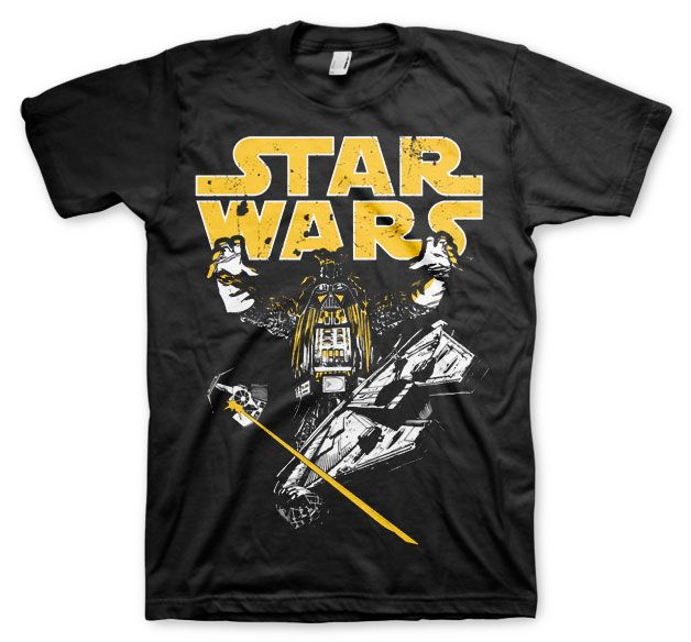 Star Wars stylové pánské tričko s potiskem Vader Intimidation