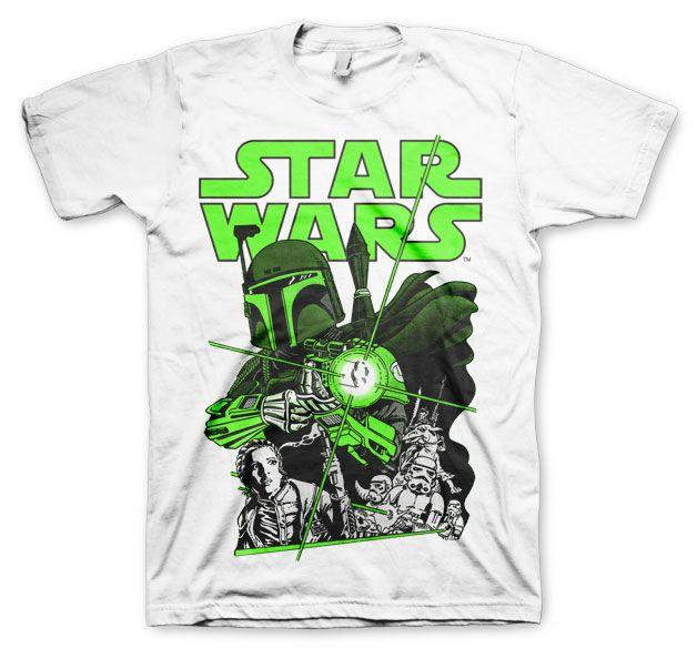 Star Wars stylové pánské tričko s potiskem Vintage Boba Fett