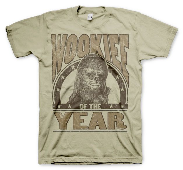 Star Wars stylové pánské tričko s potiskem Wookiee Of The Year