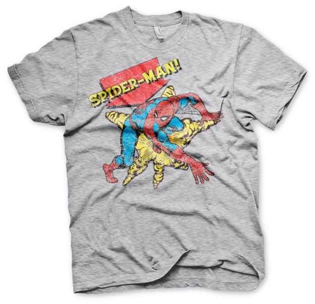 Stylové tričko Marvel , pánské triko s potiskem Retro Spider-Man
