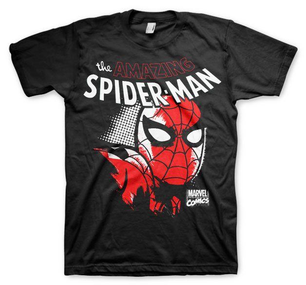 Stylové tričko Marvel , pánské triko s potiskem Spider-Man Close Up