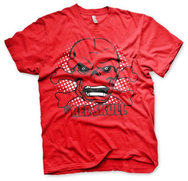 Stylové tričko Marvel , pánské triko s potiskem The Red Skull