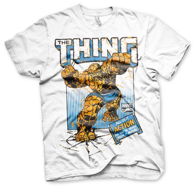 Stylové tričko Marvel , pánské triko s potiskem The Thing Action