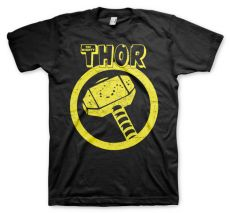 Pánské tričko s potiskem Thor Distressed Hammer