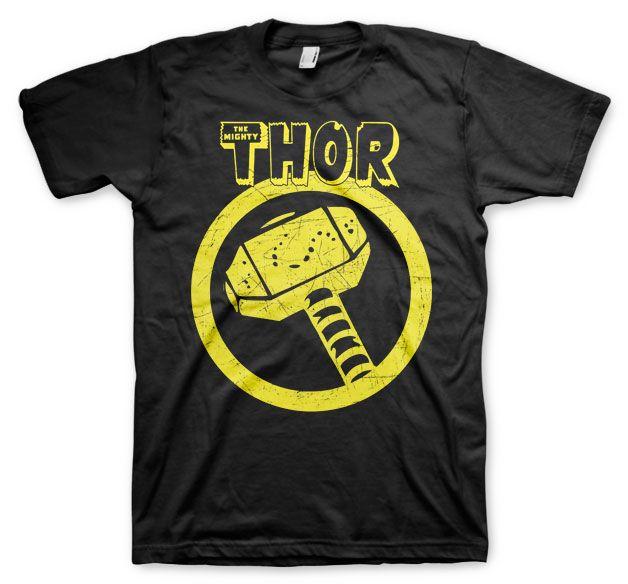Stylové tričko Marvel , pánské triko s potiskem Thor Distressed Hammer