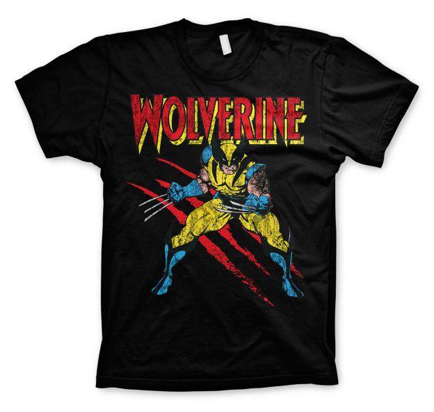 Stylové tričko Marvel , pánské triko s potiskem Wolverine Scratches