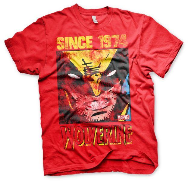 Stylové tričko Marvel , pánské triko s potiskem Wolverine Since 1974