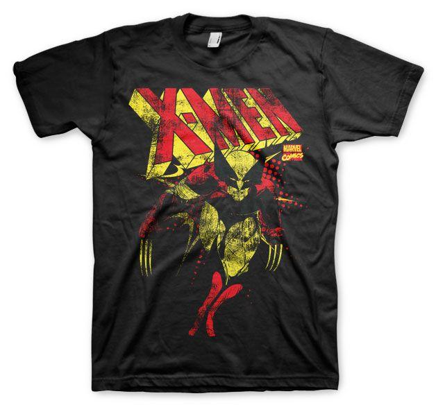 Stylové tričko Marvel , pánské triko s potiskem X-Men Distressed