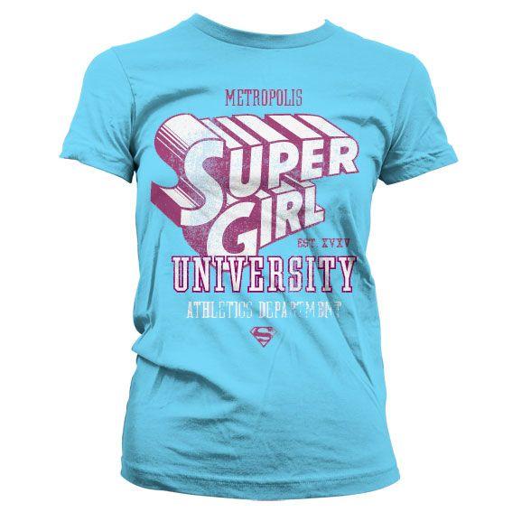 Supergirl stylové dámské tričko s potiskem Athletics Dept.