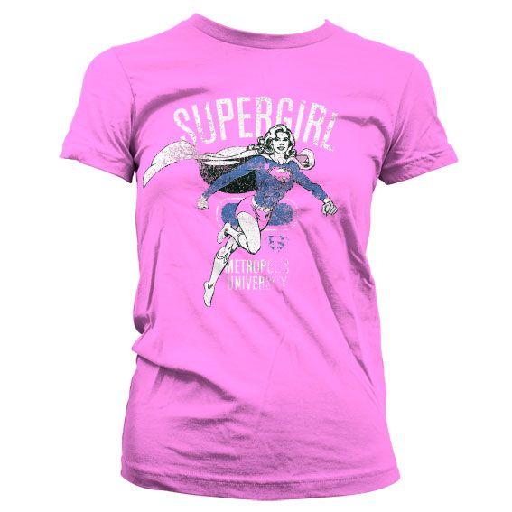Supergirl stylové dámské tričko s potiskem Metropolis Distressed