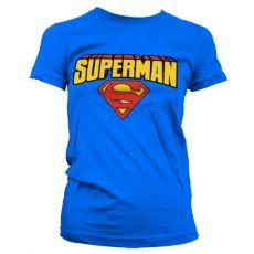 Dámské tričko Superman Blockletter Logo