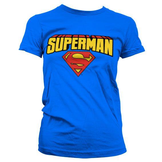 Superman dámské tričko s potiskem Blockletter Logo