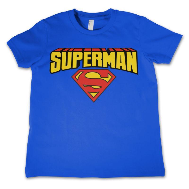Superman dětské triko s potiskem Blockletter Logo