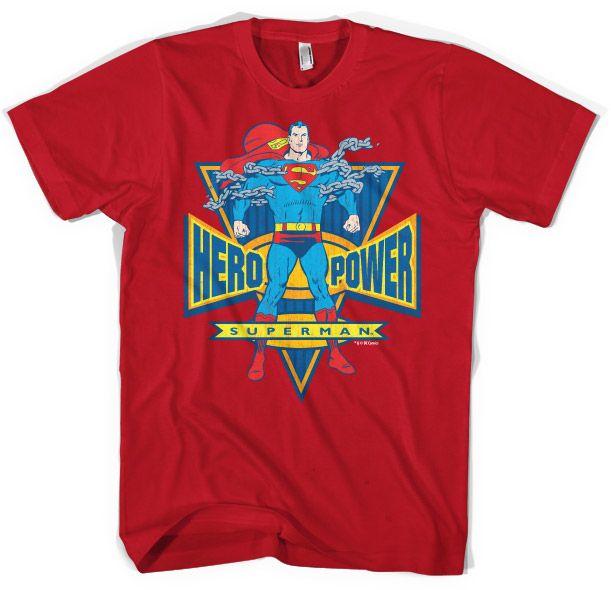 Superman modré pánské tričko s potiskem World Hero