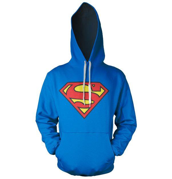Superman stylová hoodie mikina s kapucí a potiskem Shield