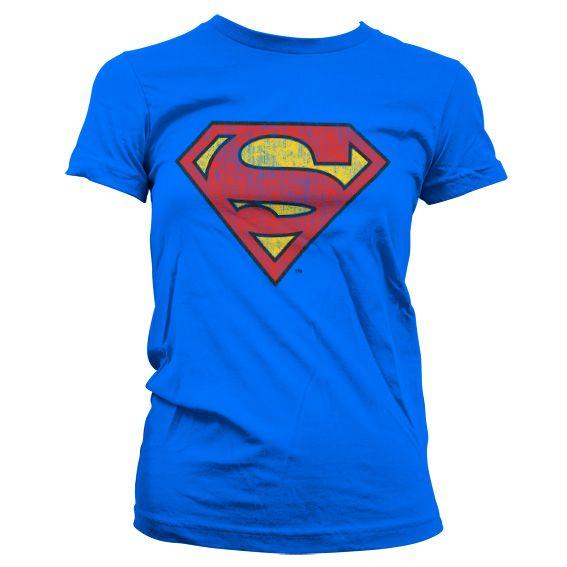 Superman stylové dámské tričko s potiskem Washed Shield