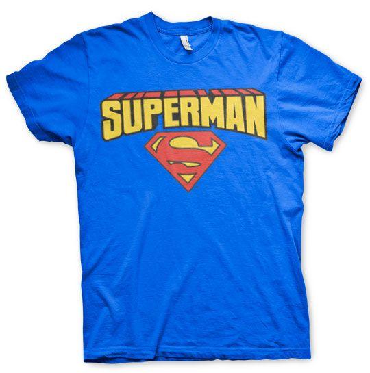 Superman stylové pánské tričko Blockletter Logo