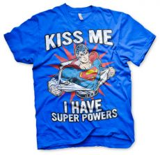 Pánské tričko s potiskem Superman Kiss Me I Have Super Powers