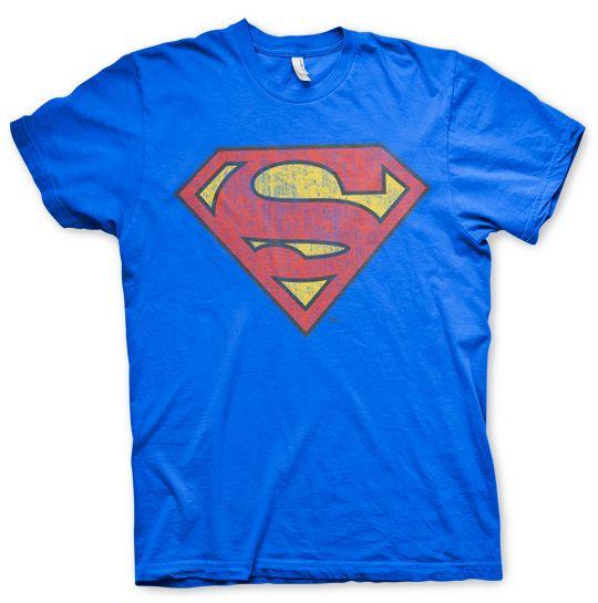 Superman stylové pánské tričko Washed Shield