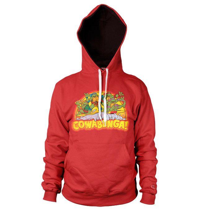 Teenage Mutant Ninja Turtles hoodie mikina s kapucí a potiskem Cowabunga